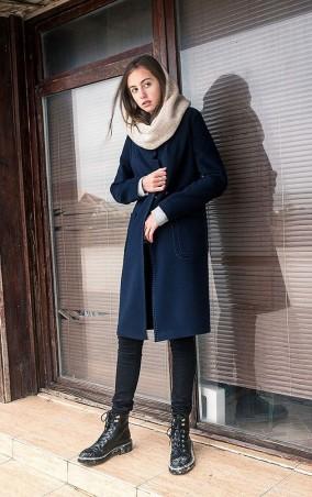 MR520 Women. Шерстяное пальто oversize (оверсайз). Артикул: MR 220 2277 0816 Dark Blue