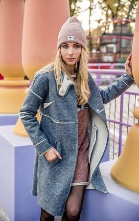 MR520 Women: Шерстяное пальто oversize (оверсайз) MR 220 2235 0916 Dark Gray - главное фото