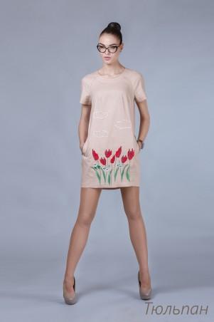 Angel PROVOCATION. Платье с вышивкой. Артикул: Тюльпан