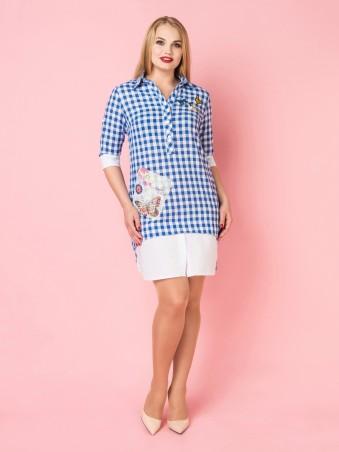 VOKARI. Платье-рубашка. Артикул: 1589 (plus size)