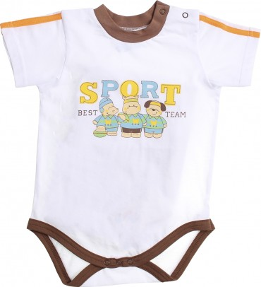 Valeri-Tex. Бодик-футболка для мальчика-1. Артикул: 1861-55-232-002-1