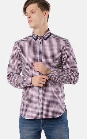 MR520 Men: Рубашка в клетку MR 123 1094 0216 Red - главное фото