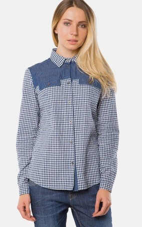 MR520 Women: Рубашка в клетку MR 223 2255 0816 Blue - главное фото
