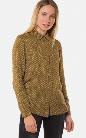 MR520 Women: Рубашка с принтом MR 223 2253 0816 Mustard - главное фото