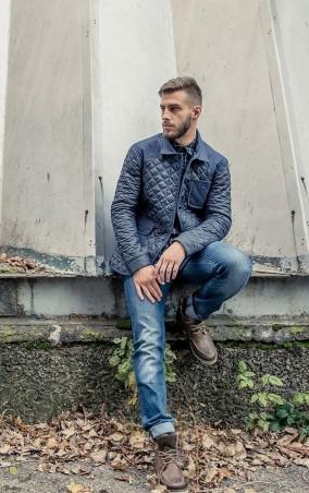 MR520 Men. Демисезонная стеганая куртка. Артикул: MR 102 1167 0916 Dark Blue