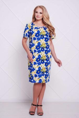 Tatiana. Классическое платье-футляр. Артикул: АДЕЛЬ синее