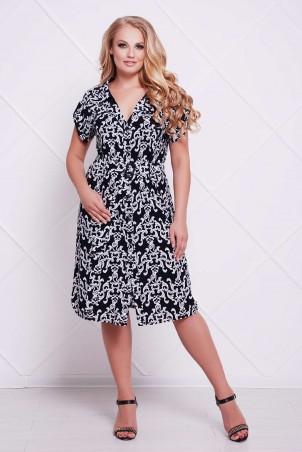 Tatiana. Платье-рубашка с поясом. Артикул: ДЖЕН темно-синее
