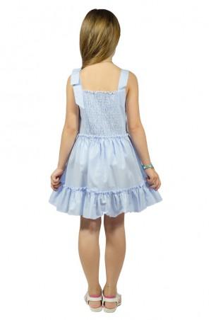 Kids Couture: Платье 2015-90 в голубой горох 61007578 - главное фото