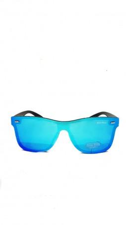 ISSA PLUS. Ярко-синие зеркальные очки в спортивном стиле. Артикул: O-42_синий