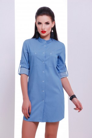 "TessDress. Платье -рубашка с накаткой ""Рубби"". Артикул: 5081"