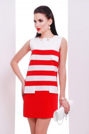 """TessDress: Красивое платье с клапанами """"Ярина"""" red 1285 - главное фото"""