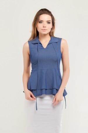 Marterina. Рубашка с двойной баской джинс. Артикул: K07R06R04