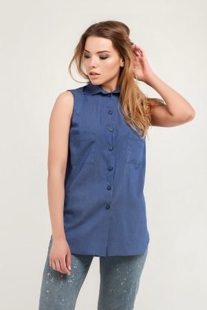 Marterina. Рубашка без рукава на резинке джинс. Артикул: K07R09R04