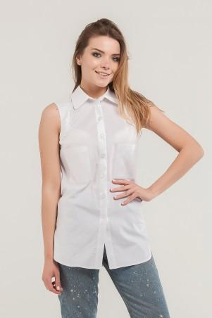 Marterina. Рубашка без рукава на резинке белая. Артикул: K07R09R01