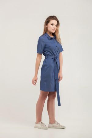 Marterina. Платье-рубашка джинс. Артикул: K07P63R04