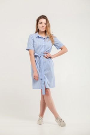 Marterina. Платье-рубашка голубое в полоску. Артикул: K07P63CT56
