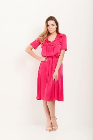 Marterina. Платье с кокеткой и коротким рукавом малиновое. Артикул: K07P43R34