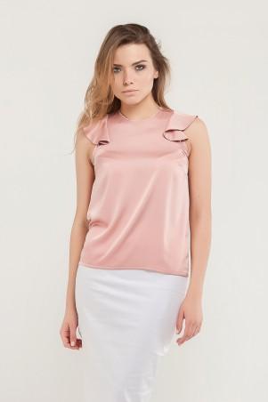 Marterina. Блуза с плечиками-воланами розовая. Артикул: K07BL03R11