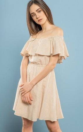 MR520 Women. Платье с открытыми плечами (спиной). Артикул: MR 229 2305 0417 Beige