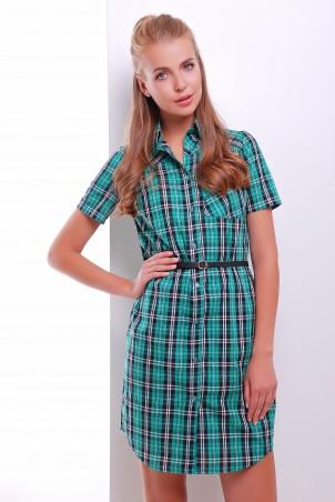 MarSe. Платье-рубашка. Артикул: 1604 зелено-черный
