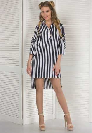 Alpama. Платье полоска. Артикул: SO-14115-BLW