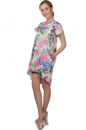 Alpama. Платье цветы. Артикул: SO-13220-FLW