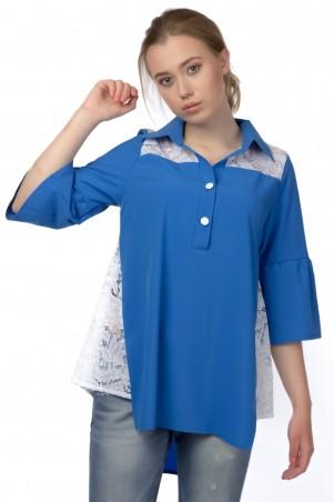 Alpama. Блуза голубая. Артикул: SO-13221-CYP