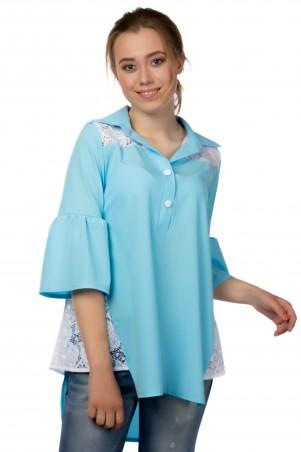Alpama. Блуза светло голубая. Артикул: SO-13221-LBL