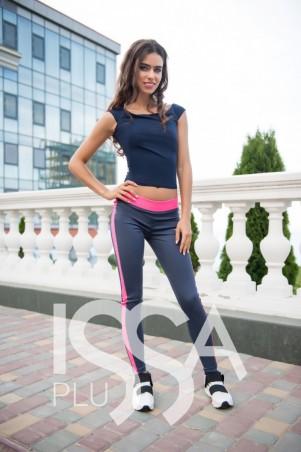 ISSA PLUS: Спортивные штаны 500_серый/розовый - главное фото