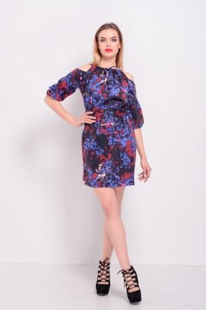 Lilo: Короткое платье с открытыми плечами цветочный принт 8202 - главное фото