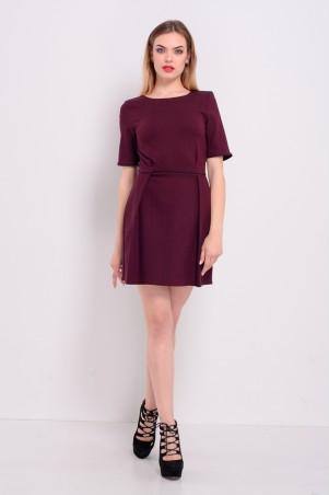 Lilo: Бордовое жаккардовое платье тюльпан 8188 - главное фото