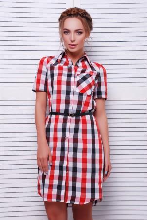 MarSe. Платье-Рубашка. Артикул: 1604 красно-черный