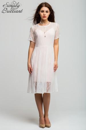 Simply brilliant: Гипюровое платье и сарафан пудра SB01D005 - главное фото