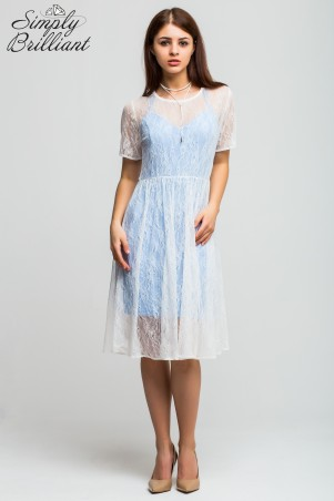 Simply brilliant: Гипюровое платье и сарафан ниагара SB01D006 - главное фото
