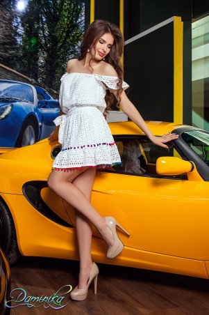 Daminika: Легкий сарафан Blanc 11730 W - главное фото