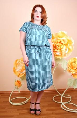Irmana Plus. Платье Виолетта узор бирюза. Артикул: 018_175695