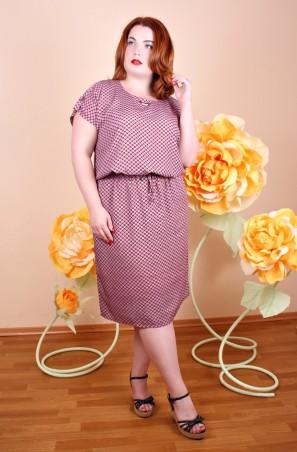 Irmana Plus. Платье Виолетта узор корал. Артикул: 018_175696