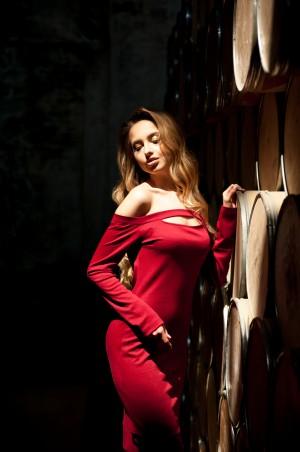 5.3 Mission. Оригинальное бордовое платье. Артикул: 321