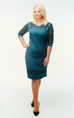 Sauliza. Модное женское платье Никола бутылочное. Артикул: 782