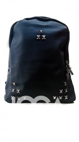ISSA PLUS: Массивный рюкзак с металлическими серебристыми крестиками ALL-103_черный - главное фото