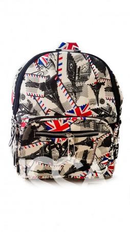 ISSA PLUS: Стильный рюкзак для путешествий с тематическим принтом ALL-107_мультиколор - главное фото