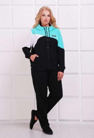 Tatiana: Спортивный комбинированный костюм ПРАТО бирюзовый - главное фото