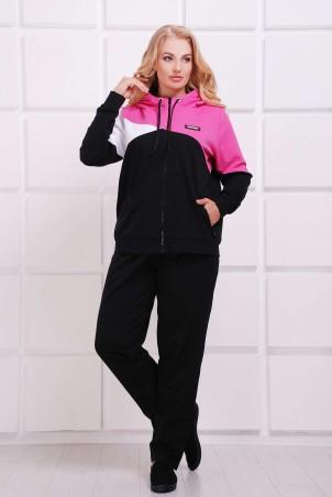 Tatiana: Спортивный комбинированный костюм ПРАТО розовый - главное фото