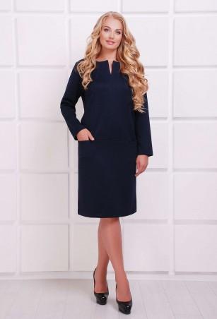 Tatiana: Платье с заниженной талией ДАЯНА темно-синее - главное фото