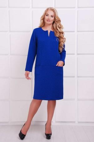 Tatiana. Платье с заниженной талией. Артикул: ДАЯНА синее