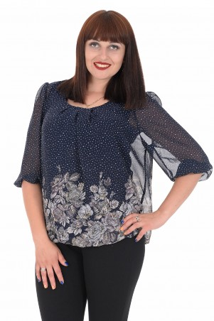 Alenka Plus: Блуза Офелия 43-4 - главное фото