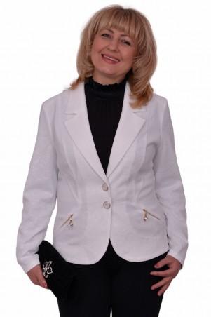 Alenka Plus: Пиджак Регина белый 1202 - главное фото