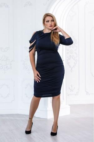 Juliana Vestido. Шикарное платье большого размера с уникальным рукавом драпировкой низа. Артикул: 2803