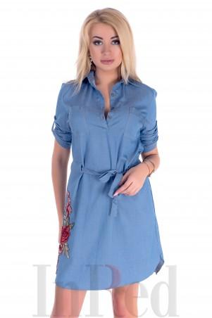 """InRed. Платье-рубашка """"LOVELY"""" голубое. Артикул: 7317"""