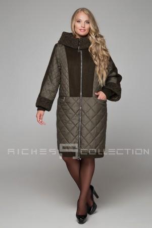 Riches. Зимнее комбинированное пальто. Артикул: 605